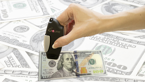 B$URE - The best counterfeit dollar detector! (Photo: Bsecure Group)
