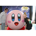 "In this photo provided by Nintendo of America, Peyton List from Disney's ""Bunk'd' who is starring in the upcoming feature ""The Thinning"" and Spencer List from ""The Bachelors"" interact with Kirby at the Kirby: Planet Robobot celebration at Smashbox Studios in Culver City, California, on June 22, 2016. Kirby: Planet Robobot, the latest instalment in the popular franchise, available now for the Nintendo 3DS family of systems."