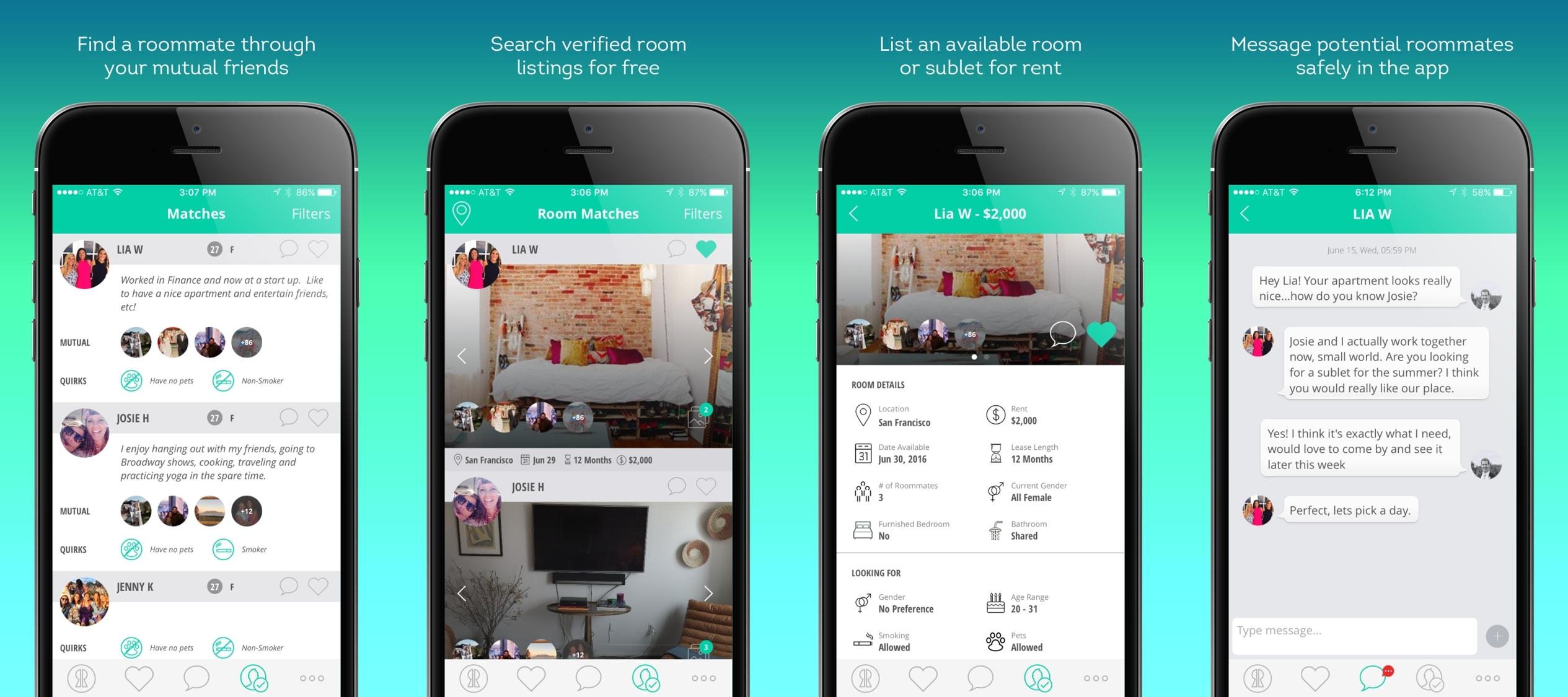 Risultati immagini per Roommates app