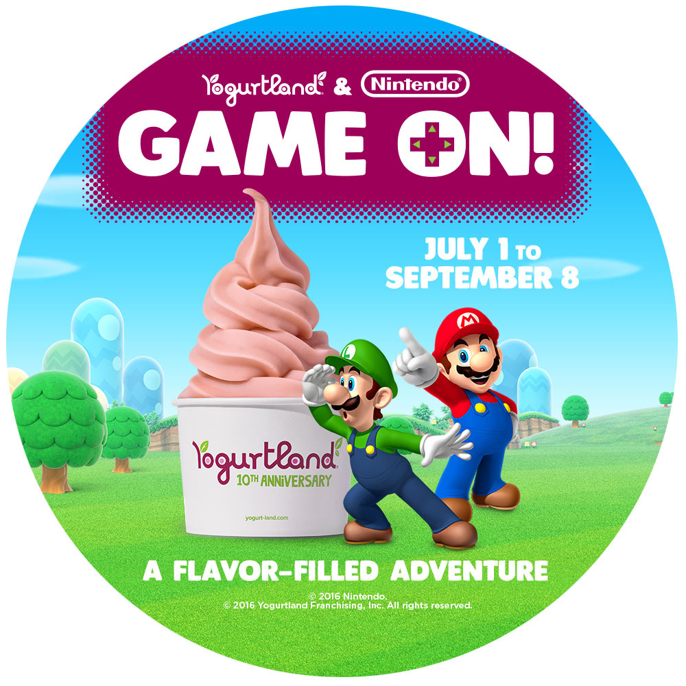 it s game on with nintendo treats at yogurtland stores this