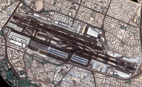 Satellite image of DXB (Photo: ME NewsWire)