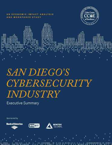 The San Diego Cyber Center of Excellence released its impact analysis and workforce study on the current state of the cybersecurity industry in San Diego on Thursday, June 23. (Graphic: Business Wire)