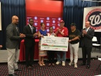 At yesterday's Congressional Baseball game, Toyota awarded a new Corolla to Whitney Stewart, Boys & Girls Clubs of America's 2015-16 National Youth of the Year. (L-R): Damion Tucker, Community Relations Sr. Administrator, Toyota Financial Services; Al Smith, Group Vice President, Service Operations & Corporate Planning, Toyota Financial Services; Julie Teer, Chief Development & Government Relations Office of the Boys & Girls Clubs of America; Whitney Stewart, National Youth of the Year winner; Texas Representative Roger Williams; Pennsylvania Representative Mike Doyle and Ron Gidwitz, Board Chair, Boys & Girls Clubs of America (Photo: Toyota)