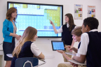 The new Promethean ActivPanel is a tablet-like display for the modern classroom. It unleashes the power of teacher and student connectivity through activities such as mobile device mirroring. (Photo: Business Wire)