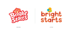 Bright Starts logo, before and after. (Graphic: Business Wire)