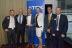 Digi-Key is presented with the European High Service Distribution Gold Award. From left to right: Werner Freibauer (DK), Dietmar Jaeger (TDK), Hermann Reiter (DK), Sabine Haas (DK), Peter Arch (TDK), Peter Miller (TDK) (Photo: Business Wire)