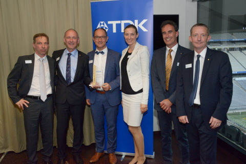 Digi-Key is presented with the European High Service Distribution Gold Award. From left to right: We ...