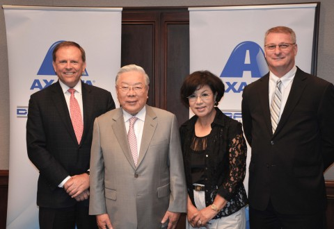 From left: Charlie Shaver, Axalta Chairman and CEO; Dr. Myung K. Hong, founder, President and Chairman of Dura Coat; Mrs. Lorrie Hong, Member of the Board of Directors of Dura Coat; and Michael A. Cash, Axalta Senior Vice President and President, Industrial Coatings. (Photo: Axalta)