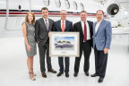 Pictured from left to right: Kriya Shortt, Senior Vice President of Sales & Marketing, Textron Aviation; Adam Johnson, CEO, NetJets; Doug Henneberry, Executive Vice President of Aircraft Asset Management, NetJets; Bill Noe, President and COO, NetJets; Scott Ernest, President & CEO, Textron Aviation (Photo: Business Wire)