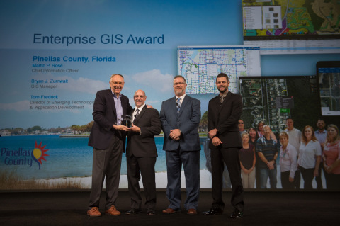 Esri presented Pinellas County, Florida with the 2016 Enterprise GIS Award for innovating a smart co ...