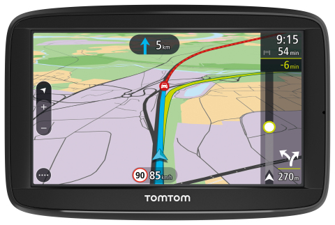 The new TomTom VIA 52 navigation device (Photo: Business Wire)