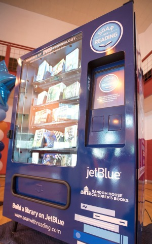 JetBlue installed five free book vending machines in neighborhoods across Detroit. (Photo: Business Wire)