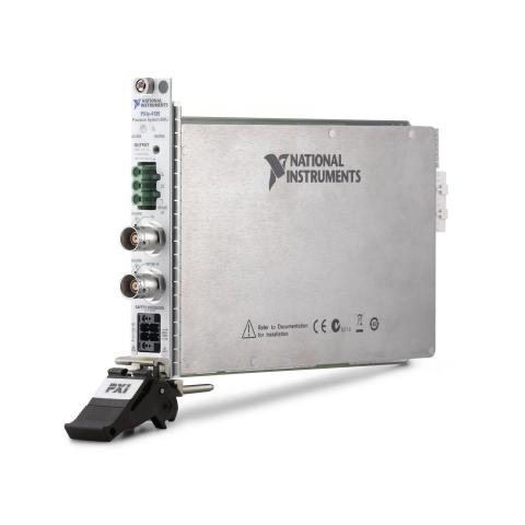 The NI PXIe-4135 source measure unit (SMU) has a measurement sensitivity of 10 fA and voltage output ...