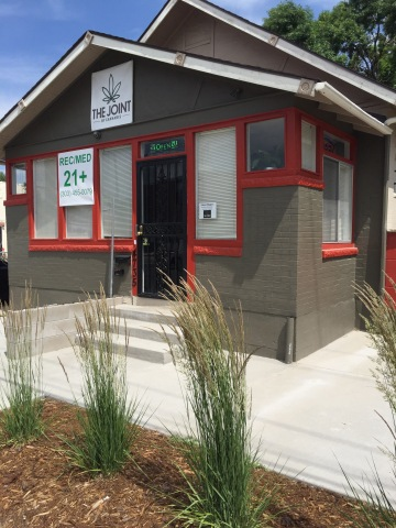 Outside view of The Joint by Cannabis, a dispensary located in the Highlands neighborhood of Denver, Colorado. (Photo: Business Wire)