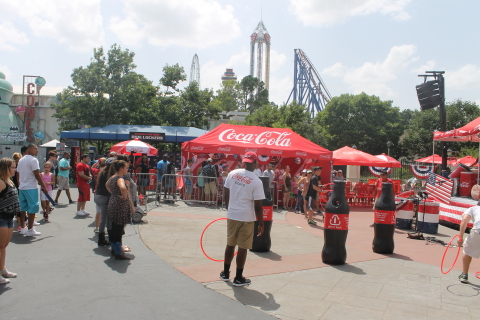 Games, fun prizes and music all part of Coca-Cola July 4th Fest at Six Flags. (Photo: Business Wire)