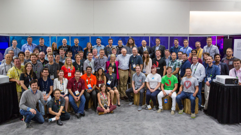 Esri Startup Program class of 2015 with founder and CEO Jack Dangermond. (Photo: Business Wire)