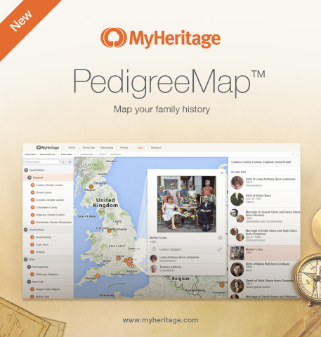 PedigreeMap™ Map your family history (Photo: Business Wire)