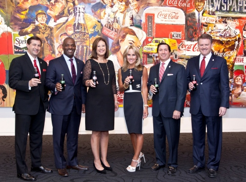 The committee toasts to kick-off the 8th annual Hearts and Hands Gala to be held on October 22, 2016 at Flourish. Pictured from left: David Chandley, Fox 5 Atlanta chief meteorologist; Craig A. Williams, Senior Vice President & President, The McDonald's Division, The Coca-Cola Company; Beth Howell, Atlanta Ronald McDonald House Charities President & CEO; Vickie Kirbo; Tom Kirbo, Chairman, Atlanta Ronald McDonald House Charities; Rich DeAugustinis, VP, Communications & Planning, The McDonald's Division, The Coca-Cola Company. (Photo: Business Wire)