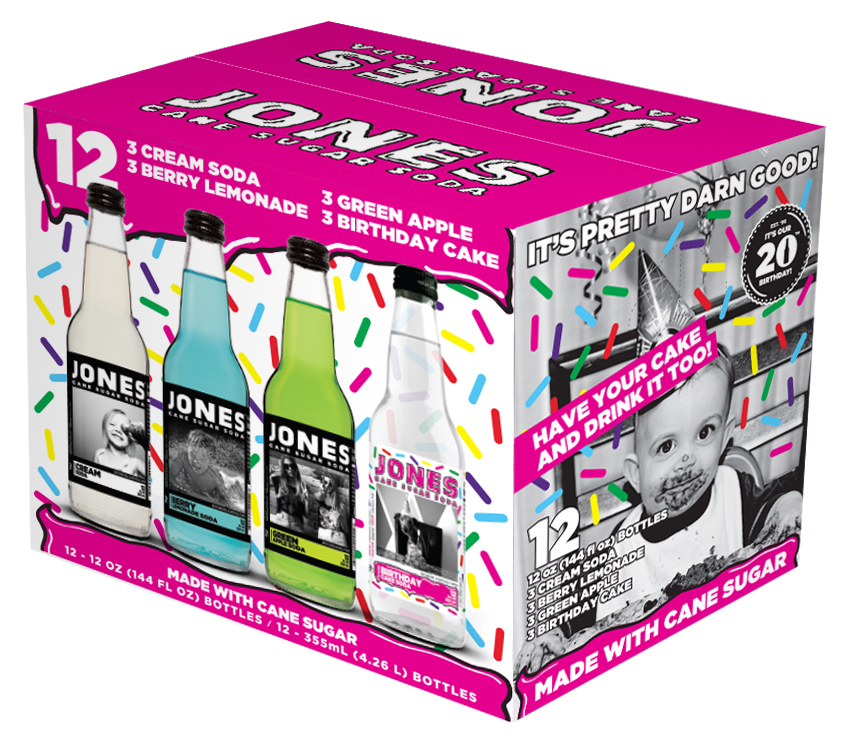 Marvelous Launch Of Jones Soda Birthday Pack At Sams Club Business Wire Personalised Birthday Cards Paralily Jamesorg