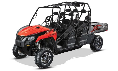 Arctic Cat's powerful, new six-passenger HDX™ Crew 700 XT utility vehicle has a versatile cargo box that transforms into a flatbed with an industry-leading 1000 lb. cargo capacity. (Photo: Arctic Cat)