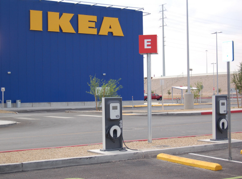 ikea las vegas plugs in 3 electric vehicle charging stations 14th ikea store in u s to. Black Bedroom Furniture Sets. Home Design Ideas
