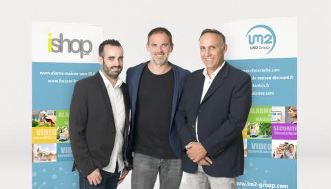 LM2 Group rachète iShop France Marc Loustau - M Lesme - C Casoni (Photo: Business Wire)