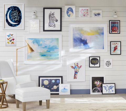 Minted x Pottery Barn Kids Collection, Gallery Wall (Photo: Business Wire)