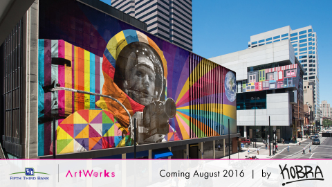 ArtWorks' CEO and Artistic Director Tamara Harkavy announced that the internationally celebrated Brazilian street artist Eduardo Kobra has been selected to create their largest mural to date in downtown Cincinnati, thanks to support from Fifth Third Bank. (Photo: Business Wire)
