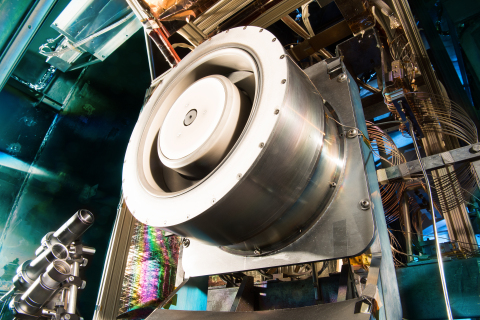 Solar Electric Propulsion engine's ionizing Hall thruster (SEP) for astronaut expeditions into deep space at NASA Glenn. (Photo: Business Wire)