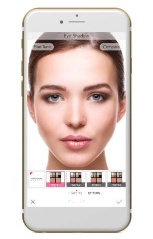 The hottest new Kardashian Beauty products are now available to try on with the augmented reality YouCam Makeup app (Graphic: Business Wire)