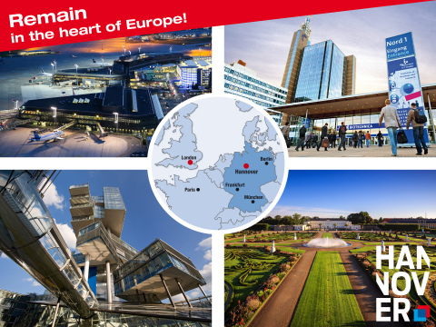 Leading trade fairs, important economic area and big brands – Hannover, your central business location in the centre of Europe. (Copyright : HMTG/Michael Thomas, Martin Kirchner, Deutsche Messe AG)