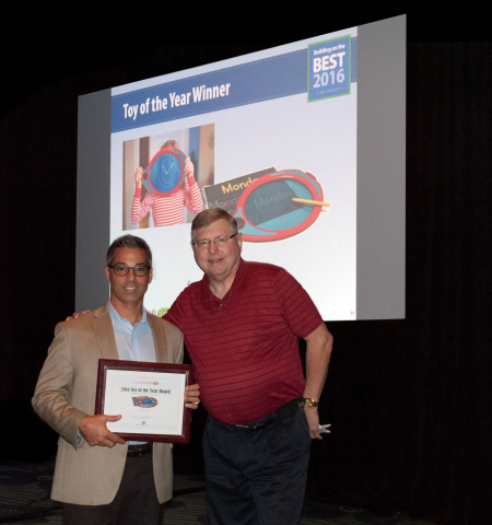Pictured: Justin Kalvitz, Sr. VP at Boogie Board eWriters and Rick Derr, Owner of Learning Express Toys - Zurich, IL and President of the Franchise Advisory Council (Photo: Business Wire)