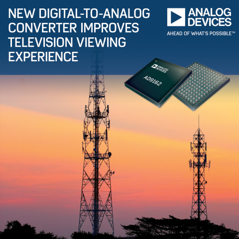 Analog Devices' D/A Converter Improves Television Viewing Experience (Photo: Business Wire)