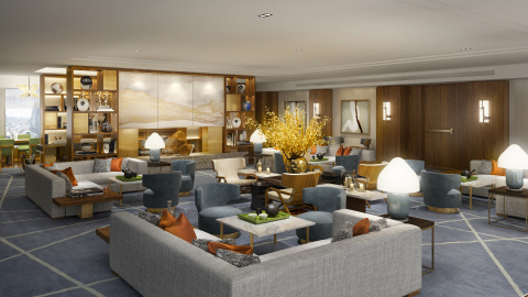 Our brand-new exclusive Club Lounge on the 45th floor will have its grand opening in December. Guest will experience the ultimate in relaxation with comfort and relief, apart from the urban hustle and bustle. (Photo: Business Wire)