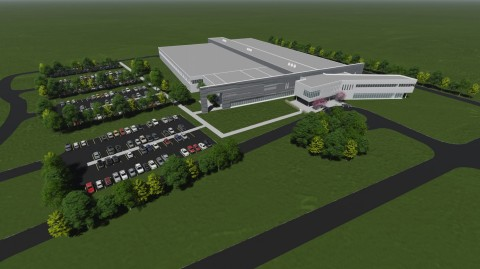 Artist Rendering of $125M Norsk Titanium Plattsburgh, New York, Industrial Scale Additive Manufacturing Factory of the Future. (Graphic: Business Wire)