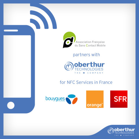 OT partners with AFSCM to roll out NFC services in France with the 3 major mobile operators (Photo: Business Wire)