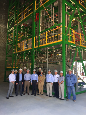 Recent visit to T-Cat8 unit in Silsbee, TX by Toyota Tsusho & Anellotech (Photo: Business Wire)