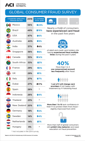 Globally, Nearly 1 in 3 Consumers Victimized by Card Fraud (Graphic: Business Wire)