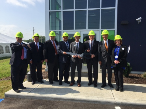 IPL and AES leaders cut the ribbon on the new IPL Advancion® Energy Storage Array (Photo: Business W ...
