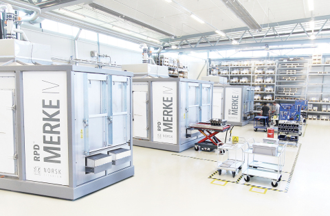 Boeing has issued a purchase order to Norsk Titanium for proprietary Rapid Plasma Deposition titanium engineering test articles produced by Norsk's MERKE IV RPD machines. (Photo: Business Wire)