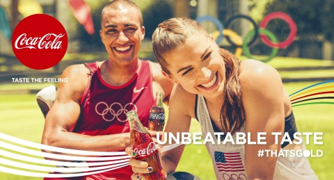 Coca-Cola North America athletes Ashton Eaton and Alex Morgan featured in the #ThatsGold campaign (Photo: Business Wire)