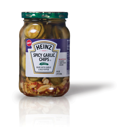 Heinz Spicy Garlic Chips are made with real garlic and red pepper. (Photo: Business Wire)