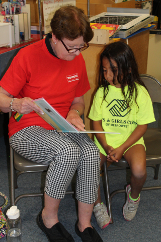 On July 12, Framingham headquarters Staples associate Eileen Krouse paired up with Aaliya from the B ...