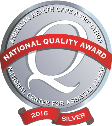 Four Sunrise Senior Living communities in Georgia and California earned the Silver National Quality Award (Graphic: Business Wire)
