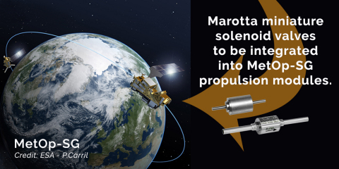 Marotta's miniature valves to be integrated into MetOp-SG Propulsion Modules (Graphic: Business Wire)