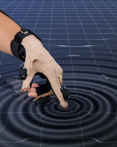 CyberTouch haptic-feeback glove (Photo: Business Wire)