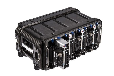 Network enclaves are independently battery backed and removable from the Voyager 8 (without interrupting operations) to form the core of increased-capacity network systems (Photo: Business Wire)