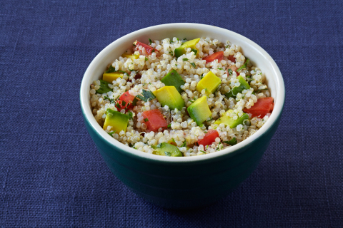 Registered Dietitian Michelle Dudash's Quinoa Tabbouleh with California Avocados (photo credit: California Avocado Commission)