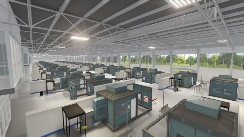 Artist Rendering of RPD Production Floor in $125M Norsk Titanium Plattsburgh, New York, Industrial Scale Additive Manufacturing Factory of the Future. (Graphic: Business Wire)