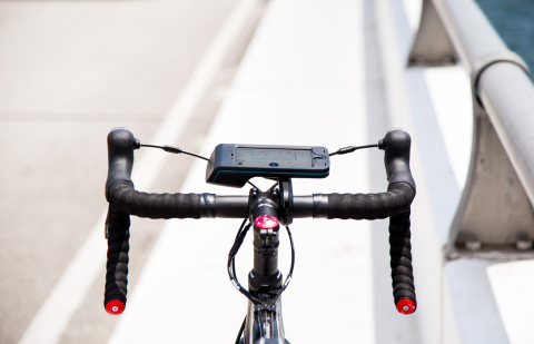 Bycle: a new bike mount and app that turns your smartphone into the ultimate riding companion (Photo: Business Wire)